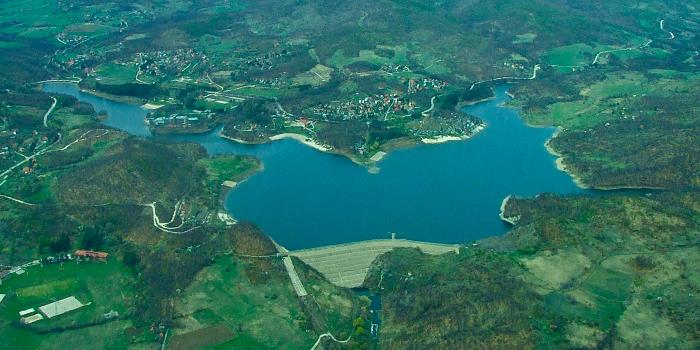 Borsko jezero iz vazduha