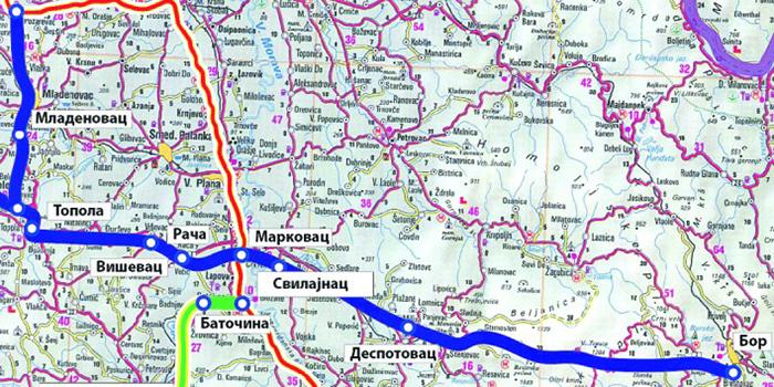 Auto Put Karadjordje Mapa Bor 030
