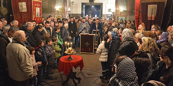 Liturgija - Badnje veče u Boru 2014