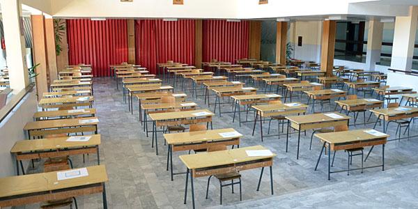 Sve je spremno za polagenje testa iz matematike.