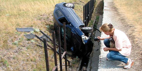 Slupani auto na Strelištu / photo: www.novosti.rs
